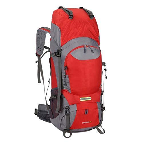 DDHXX Unisex Rucksack Wasserdicht Große Kapazität Outdoor Sport Angeln Camping Reise Daypacks Leichtgewicht 50 L Wandern Tagesrucksäcke Blau (Color : Red) - Backcountry-ski-rucksäcke