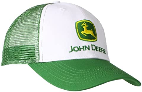 John Deere Men's Trademark Logo Trucker Mesh Back Core Baseball