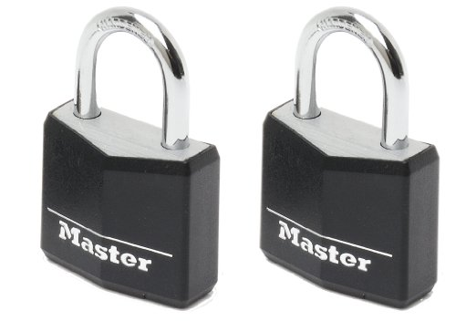Master Lock 9130EURDBLK Candado para Taquillas, Baúles, Armarios, Negro, 30 mm