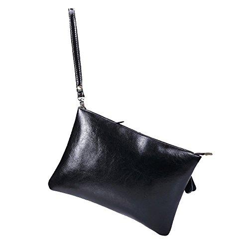 Gendi Herren Top echtes Leder Business Clutch Bag mit Armband passen Ipad 28 x 22 x 2cm (Scheckheft Tasche Brieftasche)