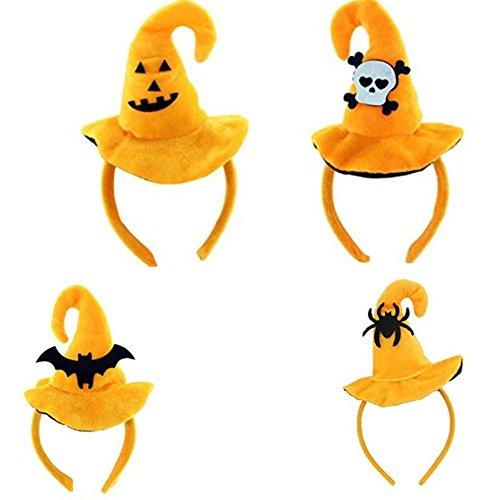 Halloween Kostüm Zubehör Party Dekorative Hexe Hut Kopf Hoop für Kinder Erwachsene (Hoop Hexe Kostüme)