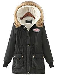 Anguang Mujer Invierno Abrigo Casual Sudadera con Capucha Chaqueta de Lana Capa Jacket Parka Pullover