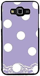PrintVisa Pattern Polka Dots Purple Case Cover for Samsung Galaxy Grand Max (Multicolour)