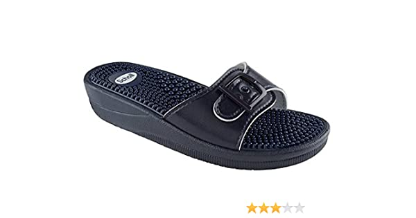 f022d07c4 Scholl New Massage Fitness Sandals Navy Blue  Amazon.co.uk  Health    Personal Care