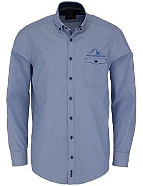CASAMODA Casual Fit Hemd super langer Arm Streifen blau AL 72
