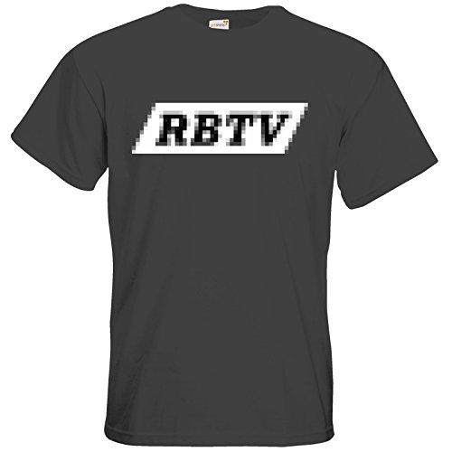 getshirts - Rocket Beans TV Official Merchandising - T-Shirt - Pixel RBTV Dark Grey