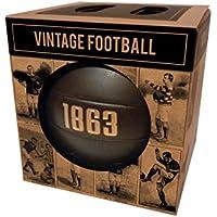 Robert Frederick FBALL03 - Balón de Fútbol de Vinilo Unisex en Caja de Papel Kraft, Estilo Vintage 1863, Color Marrón, 5 Unidades