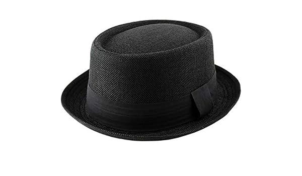 Hawkins Herren Pork Pie-Hut schwarz schwarz Einheitsgr/ö/ße