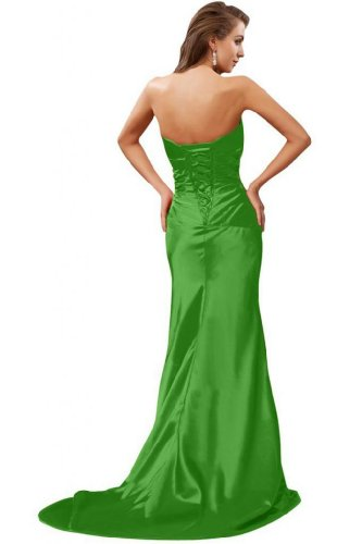 Sunvary sirena senza spalline, in stile elegante, per abiti da sera Green