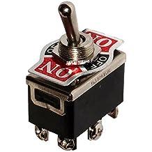 AERZETIX: Interruptor conmutador de palanca DP3T ON-OFF-ON 10A/250V, 3 posiciones