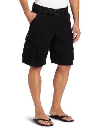 Lee Belted Shorts (LEE Men's Dungarees Belted Wyoming Cargo Short, Black, 42)
