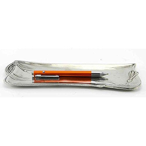 Schreibtischstifthalter Jugendstil aus Zinn 24x9 cm