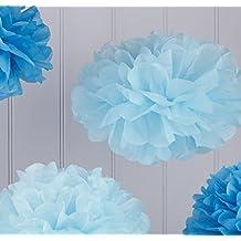 A-goo 1pcs Mini de seda de papel flor bola boda decoración azul
