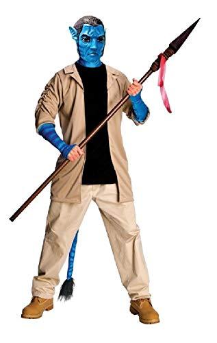 narrenkiste R889806-48-52 beige-blau Herren Jake Sully Avatar Kostüm - Buschmann Kostüm