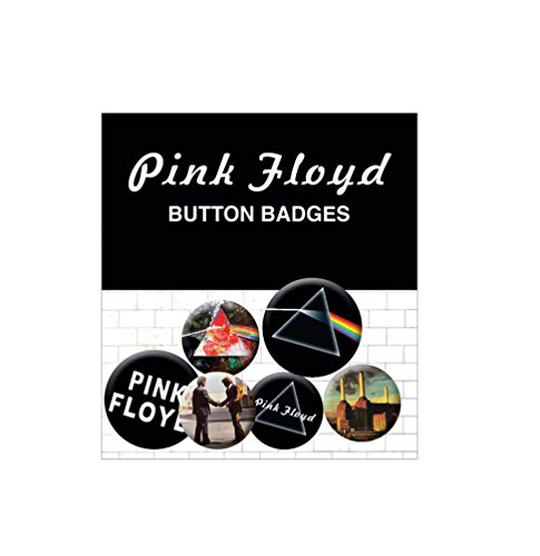 Pink Floyd Badge Pack - Album And Logos, 4 X 25mm & 2 X 32mm Badges (6 x 4 inches) by Gb Posters