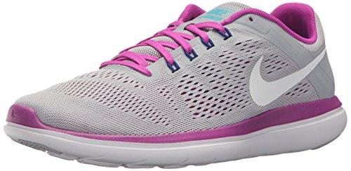 Nike Wmns Flex 2016 RN - Scarpe Running Donna Grigio (Grey (004 Grey))