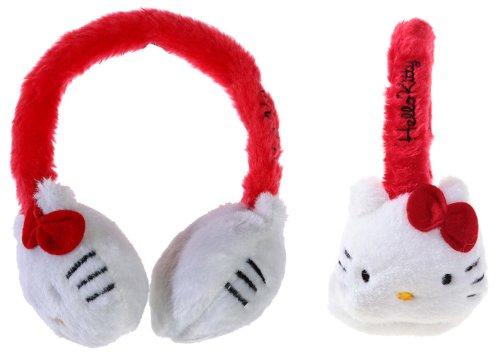 Cache Ohren Schnurrbart + Schleife Hello Kitty Mädchen -