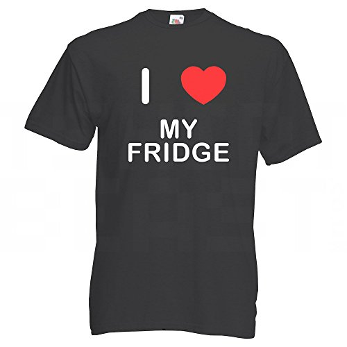 I Love My Fridge - T-Shirt Schwarz