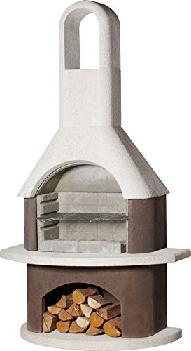 Buschbeck - Parrilla chimenea Milano, 1 pieza, color blanco de color marrón, 90004.000