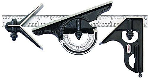 Starrett C434–12–4R Kombinationsset mit Anschlagswinkel, Zentrierkopf, Winkelmesser
