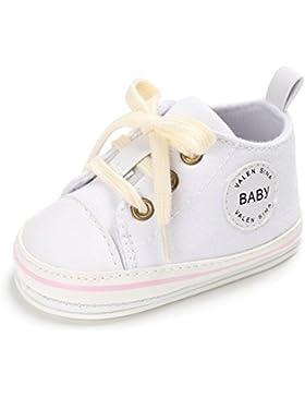 L-Peach Botines de Lona para Bebé Sneaker Zapatillas de Deporte Antideslizante para Recién Nacido Bebé Primeros...