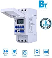 Blackt Electrotech (BT-41D): 16/240V AC Programmable Daily/Weekly Digital LCD Display Control Counter/Time Timer Relay Switch: DIN Rail Type (Warranty 6 months)