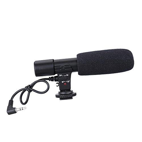 Andoer MIC-01Mikrofon, Digital Video DV 3,5mm Recording für Canon Nikon Pentax Olympus Panasonic Digital SLR Kamera Stereo Camcorder