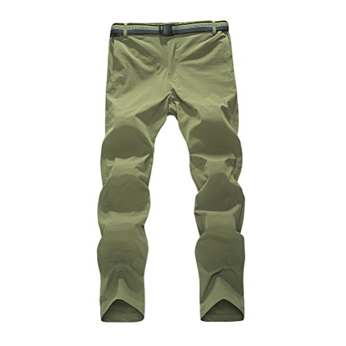 Zhhlaixing Unisex Mens Womens Elasticity Casual Pants All'aperto Sports Quick-dry Trousers Simple Solid color ArmyGreen-Mens