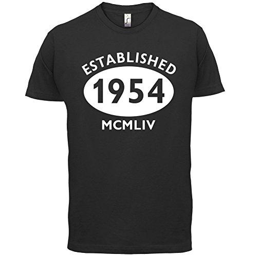 Gegründet 1954 Römische Ziffern - 63 Geburtstag - Herren T-Shirt - 13 Farben Schwarz