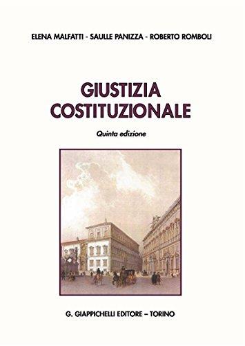 Giustizia costituzionale-Giustizia costituzionale. Atti normativi
