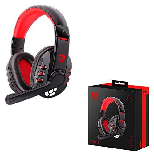 bescita Bluetooth Headset Kopfhörer,Gaming Headset Wireless mit Mikrofon Ear Headset Ohrpolster für PS4 für PC für Telefon für PUBG -
