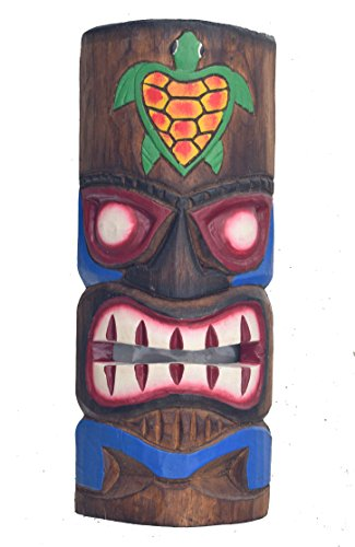 Tiki-Mscara-30-cm-en-Hawaii-Style-con-tortuga-Diseo-pared-Mscara-Mscara-Madera-Isla-de-Pascua