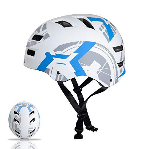 Automoness Casco Skate,Casco Bicicleta con CE Certifiacdo,Unisex Adultos Jovenes Ninos.Multi-Deporte para Ciclismo,Skate, Esquí, Patinaje,Pequeño