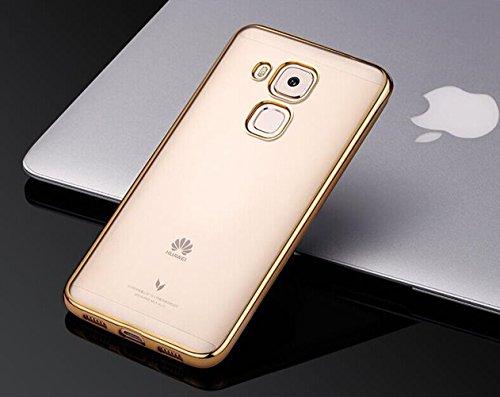 AIBULO® Huawei Ascend G9 Plus/Huawei Nova Plus Hülle TPU Case Schutzhülle Silikon Crystal Case für Huawei Ascend G9 Plus/Huawei Nova Plus (gold)