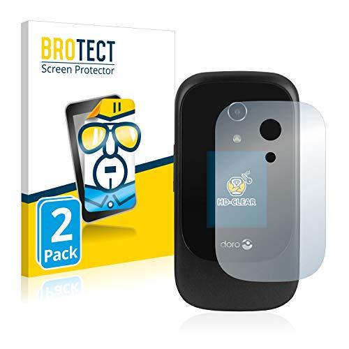 BROTECT Schutzfolie kompatibel mit Doro 7060 (Äußeres Bildschirm) [2er Pack] klare Bildschirmschutz-Folie
