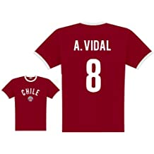 World of Football Player Shirt Chile Vidal