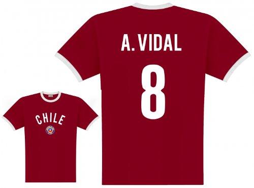 World of Football Player Shirt Chile Vidal - L