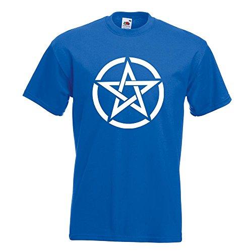 KIWISTAR - Pentagramm Motiv2 T-Shirt in 15 verschiedenen Farben - Herren Funshirt bedruckt Design Sprüche Spruch Motive Oberteil Baumwolle Print Größe S M L XL XXL Royal