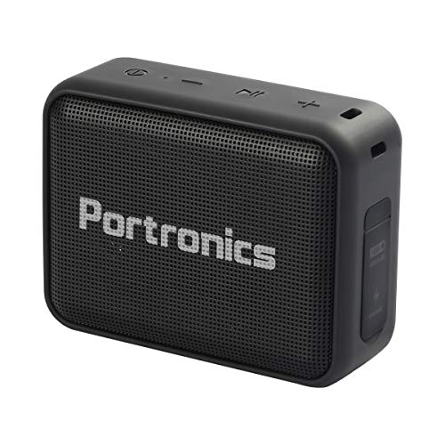 Portronics Dynamo Bluetooth 5.0 Portable Stereo Speaker with TWS, USB Music & FM Music and Clear Bass Sound, 5W, Black