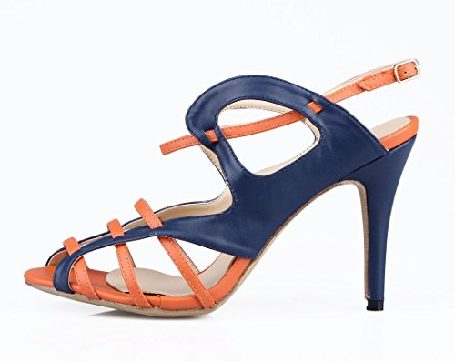 TDA - Peep-Toe donna Blue/Orange