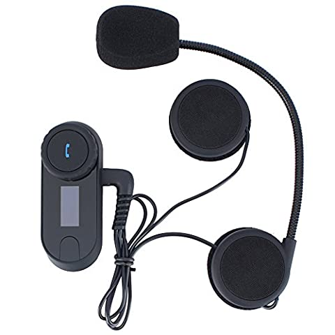 niceEshop(TM) Bluetooth Motorcycle Motorbike Helmet Interphone Intercom Headset(800M,UK Plug)