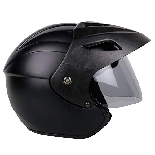 Mototrance TC-2101 Open Face Helmet (Matt Black, L)