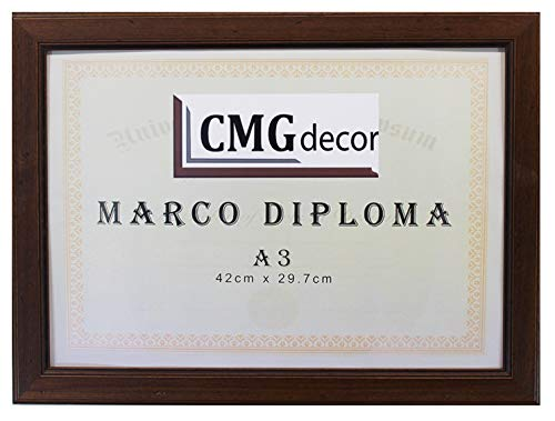 CMGdecor Marco Diploma Hecho en Madera