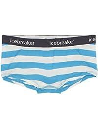 Icebreaker Sprite Strip W Hot pants de lana merina L cyan/snow