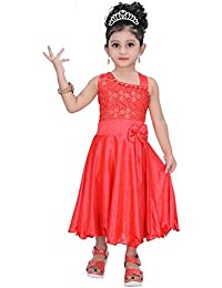 55c29779c1 Indian Evergreen one Side Party wear Satin Lycra Chicken Dresses Clothes for  Girls