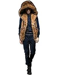 Amazon.it  pelliccia - Nero   Uomo  Abbigliamento 1b00ac4b920c
