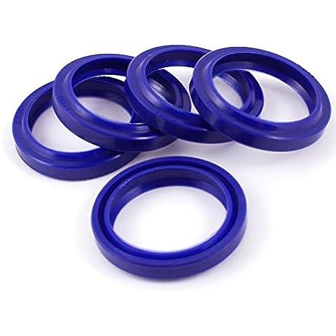 a13060800ux0336 Ronda Pu prueba de polvo del sello de aceite Cojines del anillo (5 piezas), Azul, 30 mm x 38 mm x 5 mm