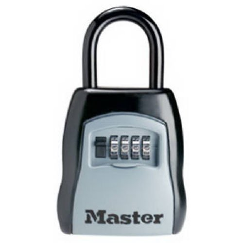 LOCKING COMBINATION 5-KEY STEEL BOX  3 1/2W X 1 5/8D X 4H  BLACK/SILVER  SOLD AS 1 EACH