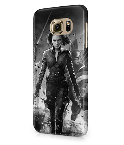 Black Widow Captain America The Avengers Plastic Snap-On Case Cover Shell For Samsung Galaxy S6