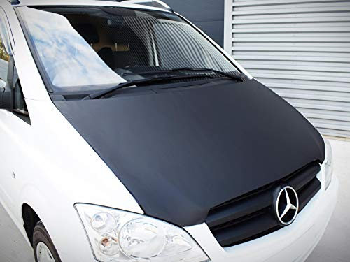 AB-00645 Carbon Fiber Look Hood Bra fit V-Classe Vito Viano W447 since 2014 Front End Nose Mask Bonnet Bra